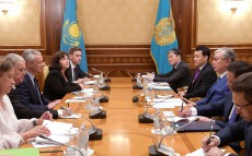 President of Kazakhstan Kassym-Jomart Tokayev receives Bruno Le Maire, Minister of the Economy and Finance of France