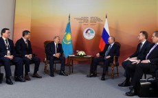 Meeting with Vladimir Putin, President of the Russian Federation, at the XIV Forum of Interregional Cooperation of Kazakhstan and Russia
